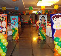 Chota Bheem Theme Birthday Party Decoration in Noida | +91-88-2628-3115